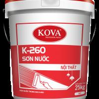Sơn nước nội thất không bóng KOVA  K-260 THÙNG 5KG