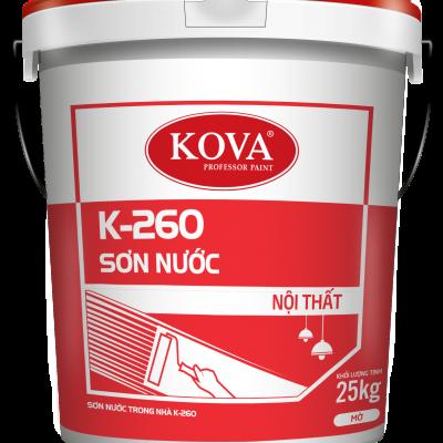 Sơn nước nội thất không bóng KOVA K-260 THÙNG 25KG