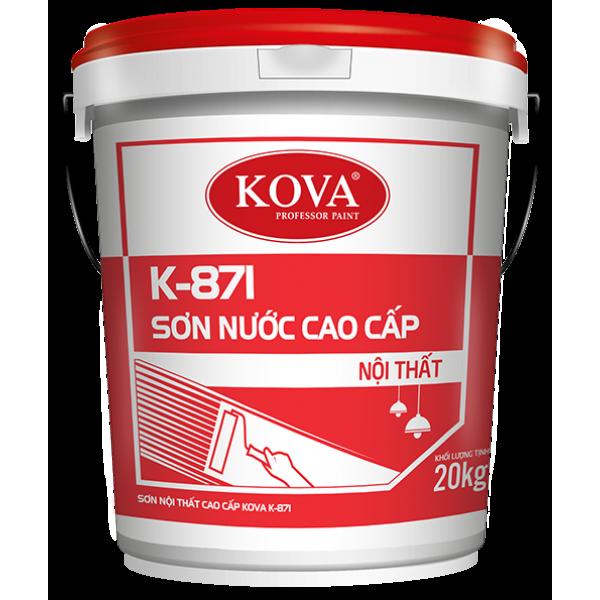 Sơn nước bóng cao cấp trong nhà Kova K-871 THÙNG 4KG