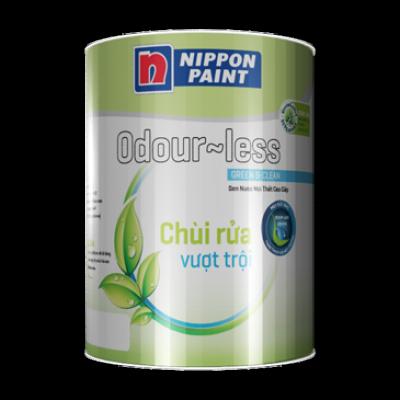 Sơn nội thất Nippon ODOUR-LESS chùi rửa vượt trội 5L