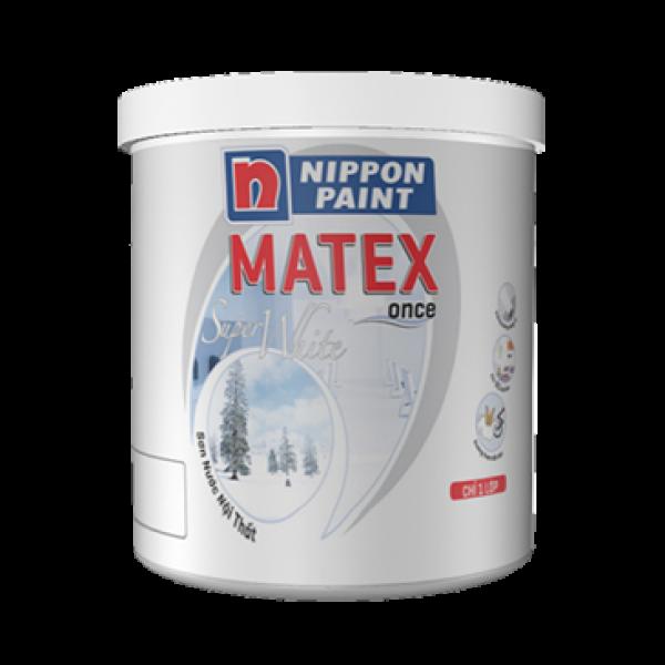Sơn nội thất Nippon Matex Super white 18L