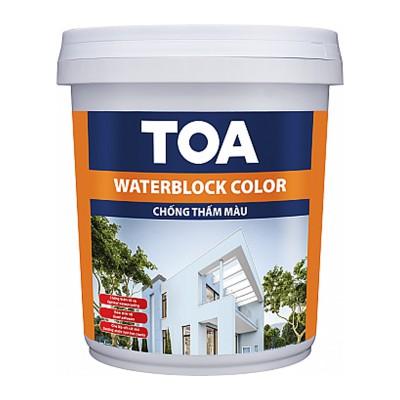 Sơn chống thấm màu TOA WATERBLOCK COLOR - 6kg