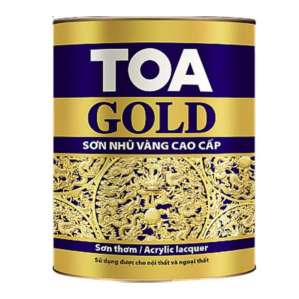 Sơn thơm nhũ vàng cao cấp TOA GOLD LACQUER - 875ML