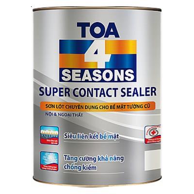 Sơn lót chuyên dụng cho bề tường cũ nội và ngoại thất TOA 4 SEASONS SUPER CONTACT SEALER - 5L