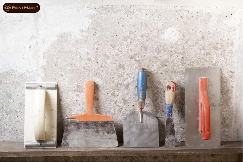 Các dụng cụ thi công tô tường