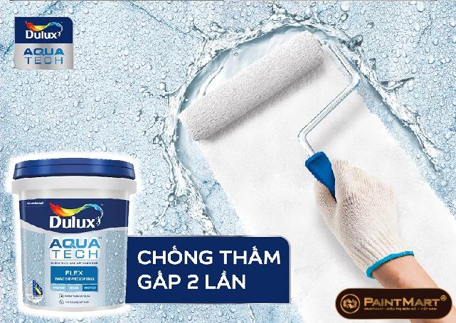 Dulux AquatechTM Flex Waterproofing chống thấm gấp 2 lần