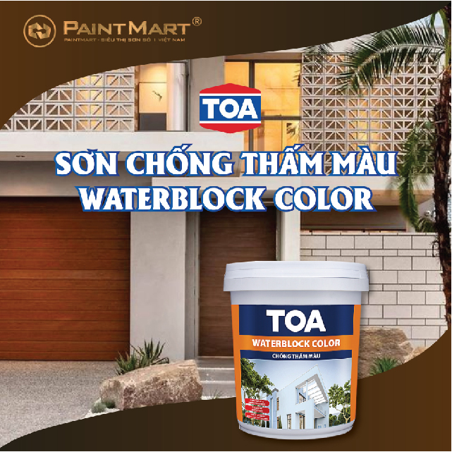 Sơnchống thấm Toa Waterblock Color