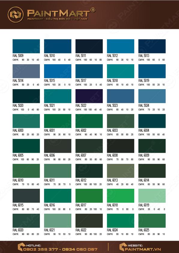 Bảng màu sơn Epoxy - 02