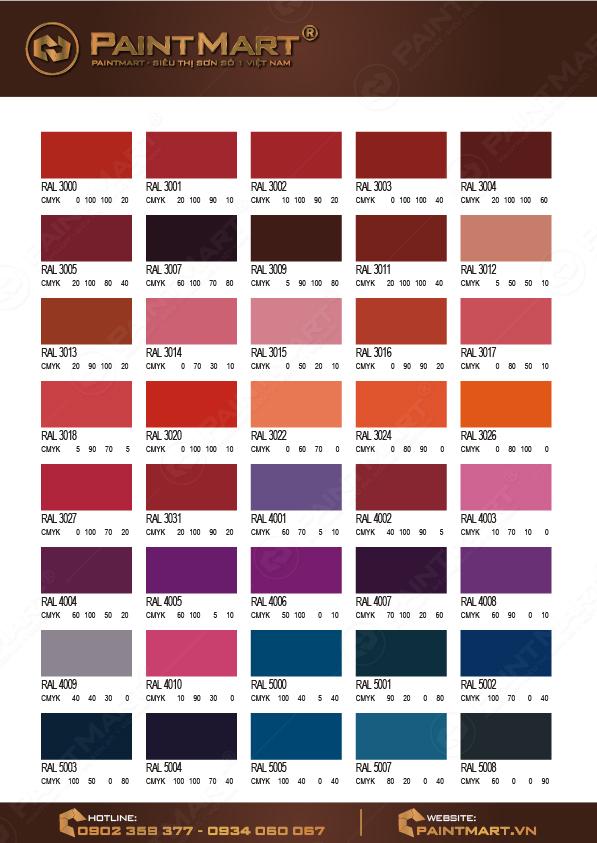 Bảng màu sơn Epoxy - 03