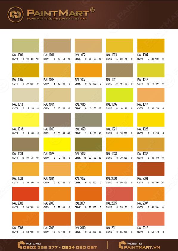 Bảng màu sơn Epoxy - 04