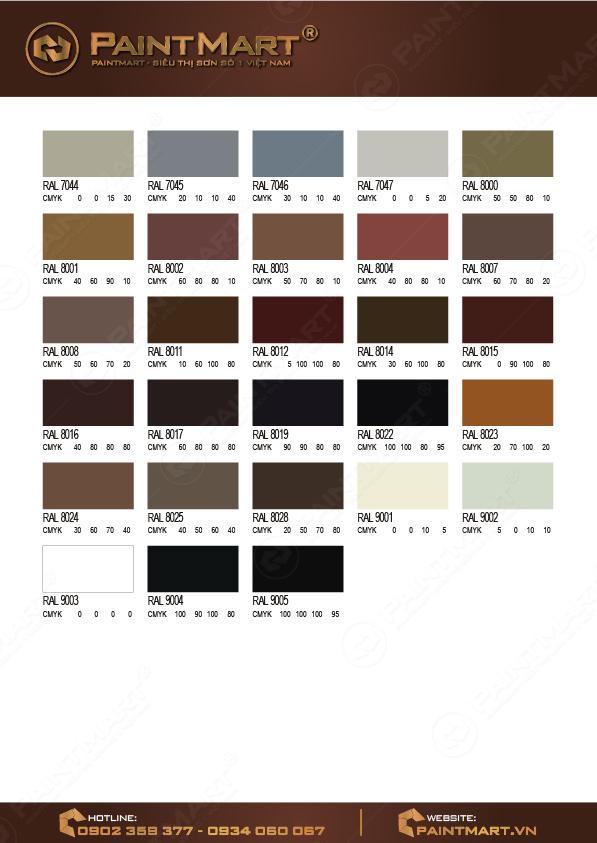 Bảng màu sơn Epoxy - 05