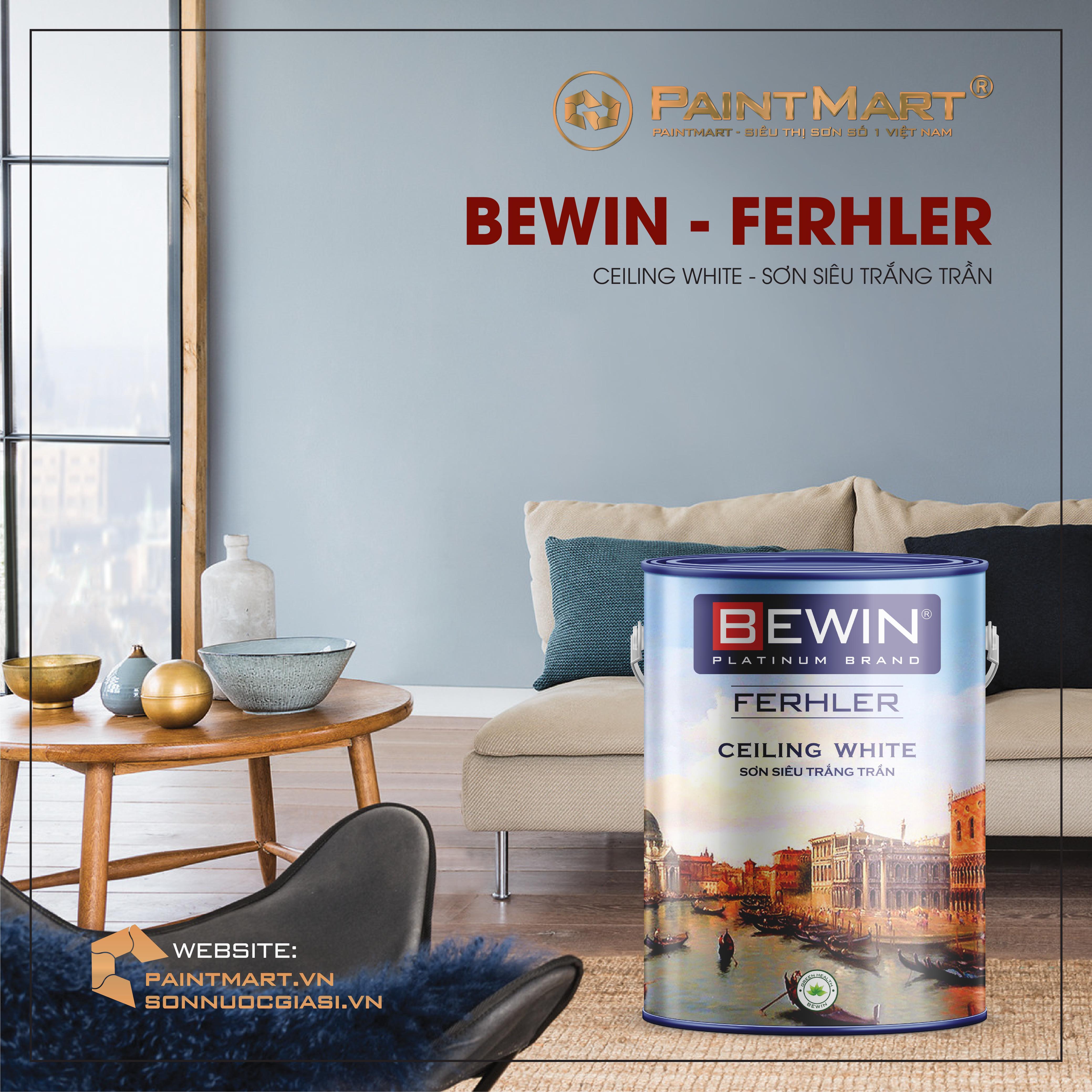 Sơn trắng trần chuyên biệt BEWIN - Ferhler CEILING WHITE